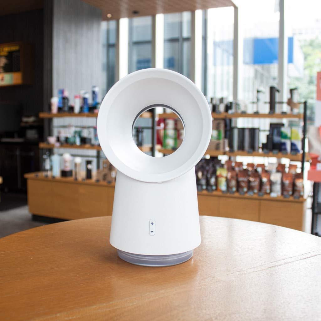 JIJI886 Mini Ventilateur de Poche A Bureau Table Portable sans Feuille Silencieux Ventilateur USB chargeant Le Petit humidificateur pour Maison