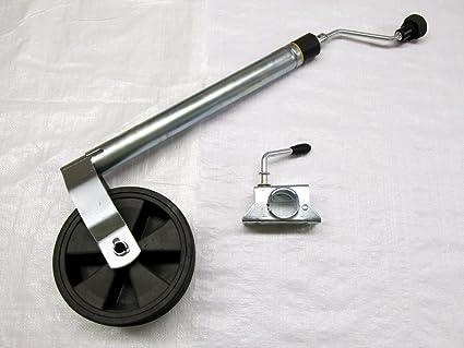 48 mm peso rueda Jockey con pinza nariz calibre - remolque Caravan caja telescópica de goma