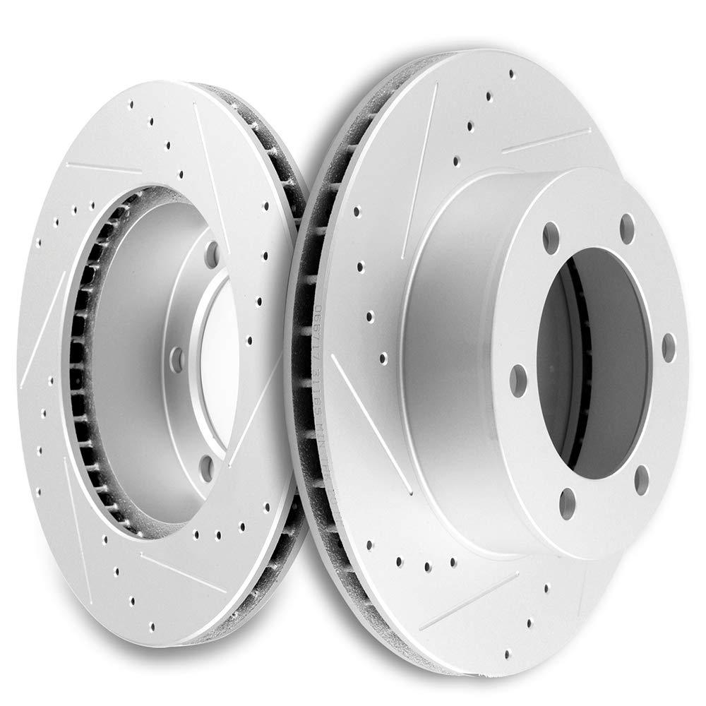 Rotors w//Ceramic Pads OE Brakes |Front 96-02 4Runner 95-98 Tacoma