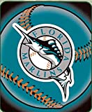 The Northwest Company Florida Marlins MLB 50x60 Soft Fleece Throw Blanket