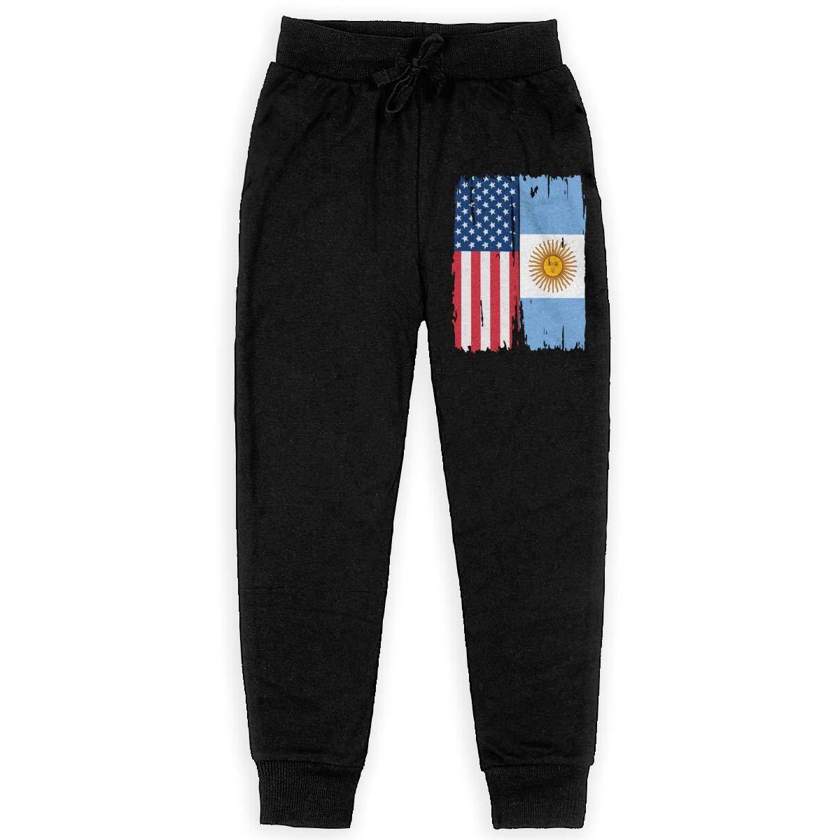 WYZVK22 American Argentina Flag Soft//Cozy Sweatpants Boys Jogger Pants for Teen Girls