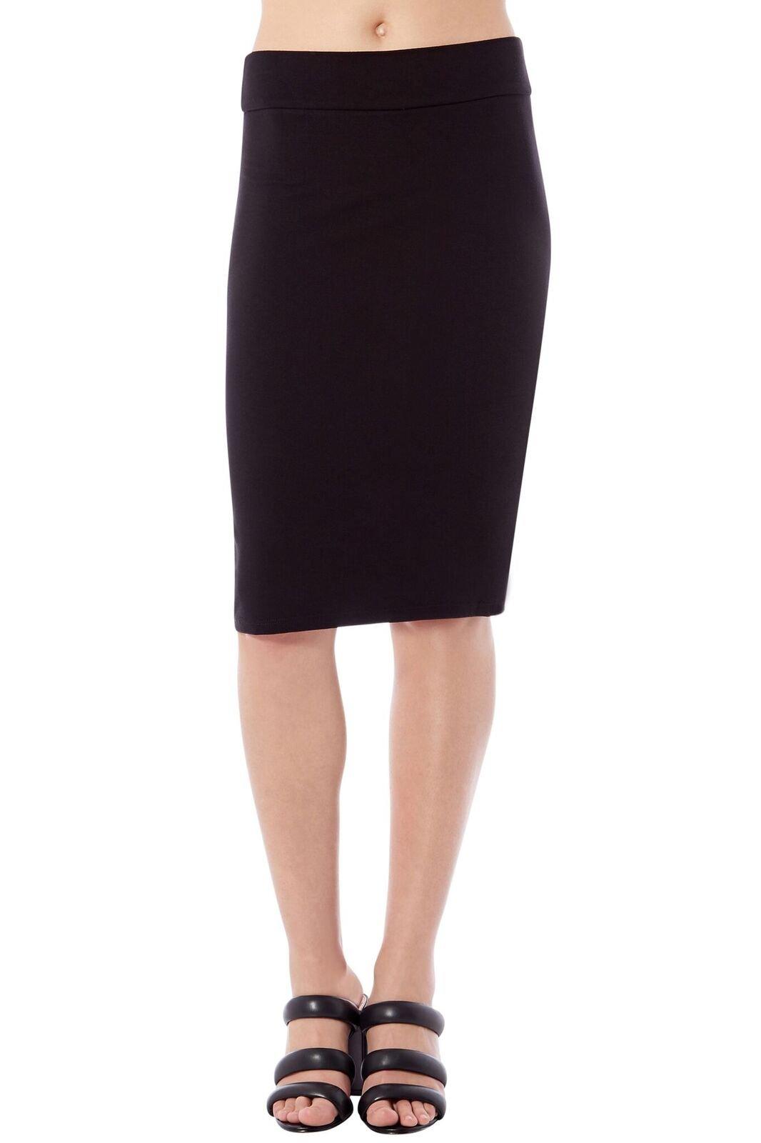 Rohb Joyce Azria Riviera Straight Pencil Tube Skirt (Black) Size M