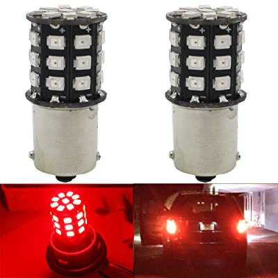 AMAZENAR 2-Pack 1156 BA15S 1141 1073 7506 1003 Car Brake Light Bulbs - 12V-24V Extremely Bright Red 2835 33 SMD LED Light Bulb - Replacement for Tail Bulbs Parking Bulbs: Automotive