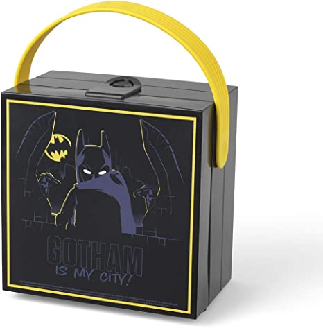 LEGO Almuerzo con asa Batman, Caja de Almacenamiento portátil, Negra, Silicone: Amazon.es: Juguetes y juegos