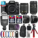 Holiday Saving Bundle for D7500 DSLR Camera + Tamron 70-300mm Di LD Lens + AF-P 18-55mm + 6PC Graduated Color Filter + 2yr Extended Warranty + 32GB Class 10 Memory + Backpack - International Version