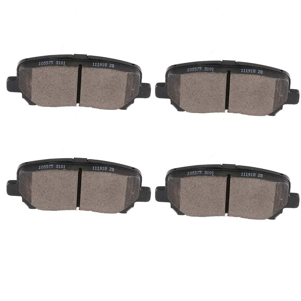 4 x Rear Brake Ceramic Pads For 2007-2013 Acura MDX 2011-2016 Honda Odyssey