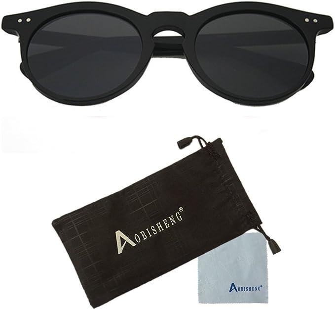 Amazon Com Aobisengpolarized Cat Eye Fashion Designer Sunglasses Black 59 Clothing