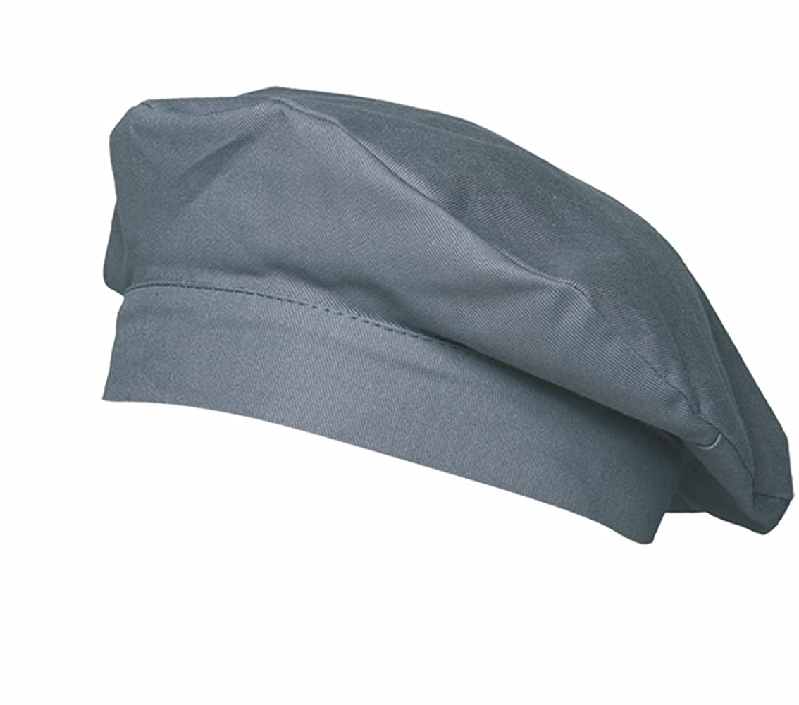Beretta-cappello da cuoco, francese cuoco nero berretto, 95 gradi 95 gradi bianco ka-luka-wh