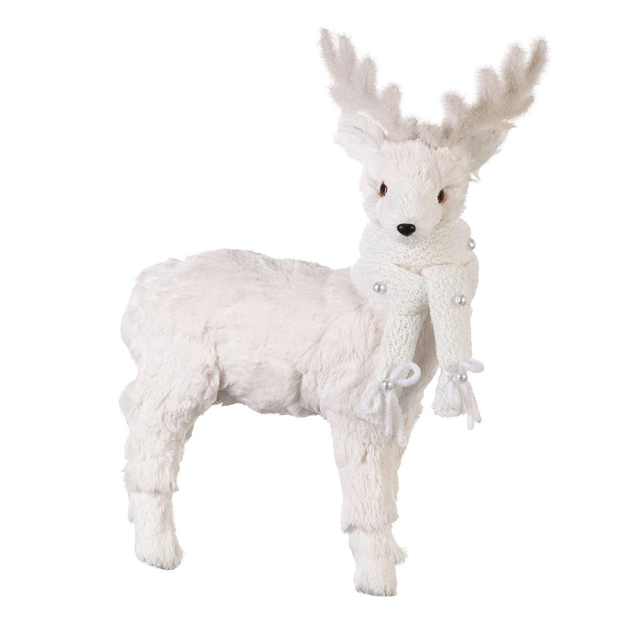 Large White Super Soft Reindeer Christmas Figure/Ornament (45cm) Heaven Sends