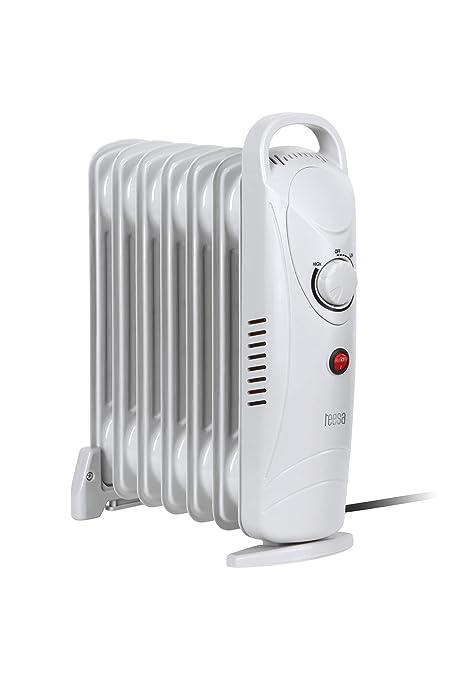 Tessa tsa8029 Teesa Radiador mobile 800 W de calefacción eléctrica, 7 elementos, termostato,