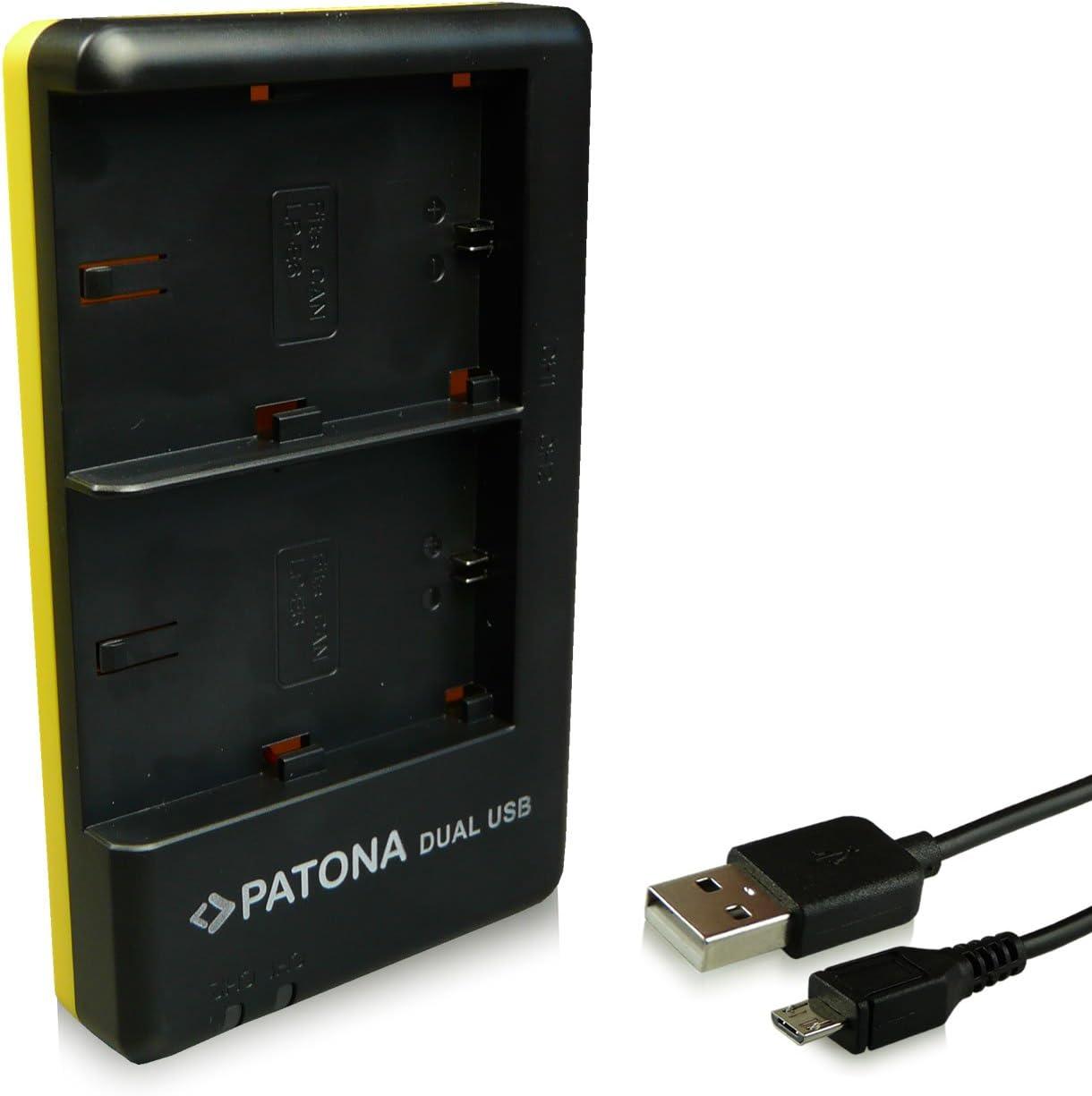 70D avec USB Type C C/âble 60Da 7D PATONA Triple Chargeur pour LP-E6 Batterie Compatible avec Canon EOS 5D 6D 60D
