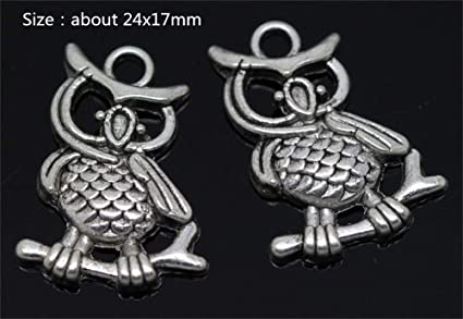 4pcs Owl Charms Tibet silver Charms Pendants DIY Jewellery Making crafts