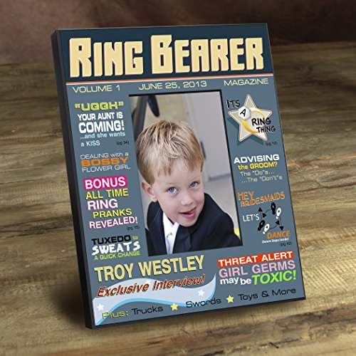 Personalized Ring Bearer Magazine Frame (Personalized Magazine Covers)