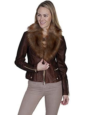 616a2b4255eb Scully Women's Honey Creek by Faux Fur Copper Jacket at Amazon ...
