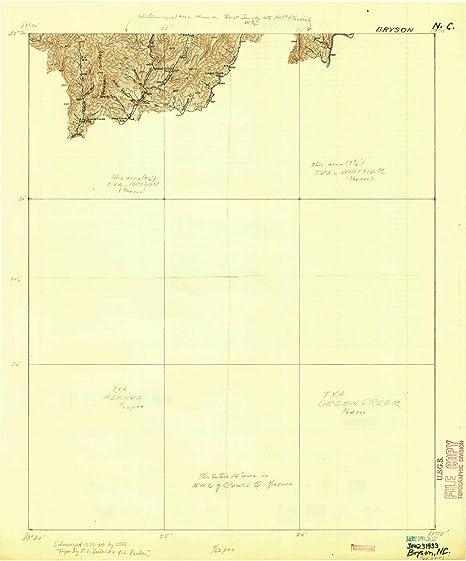 Bryson Nc Map.Amazon Com Yellowmaps Bryson Nc Topo Map 1 62500 Scale 15 X 15
