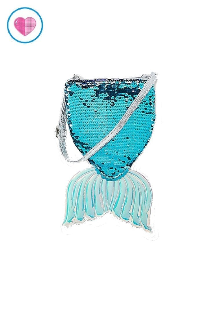 Justice For Girls Mermaid Tail Flip Sequin Crossbody Purse Bag