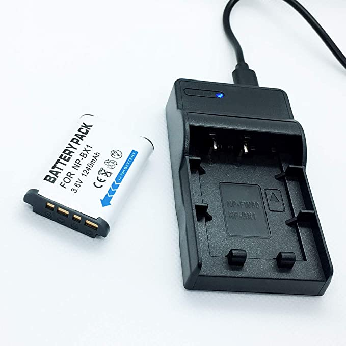 Replacement Charger for Sony NP-BX1 Sony HDR-AS15 Camcorder Battery Charger 110//220v with Car /& EU adapters