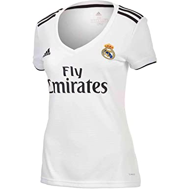 6eb712c5f06 adidas Real Madrid Home Soccer Jersey Womens 2018 19 (XS) White Black