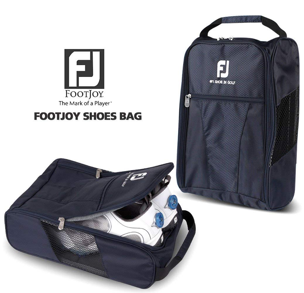 FootJoy Genuine Golf Shoes Bag Zipped Sports Bag Shoe Case - Navy Color by FootJoy