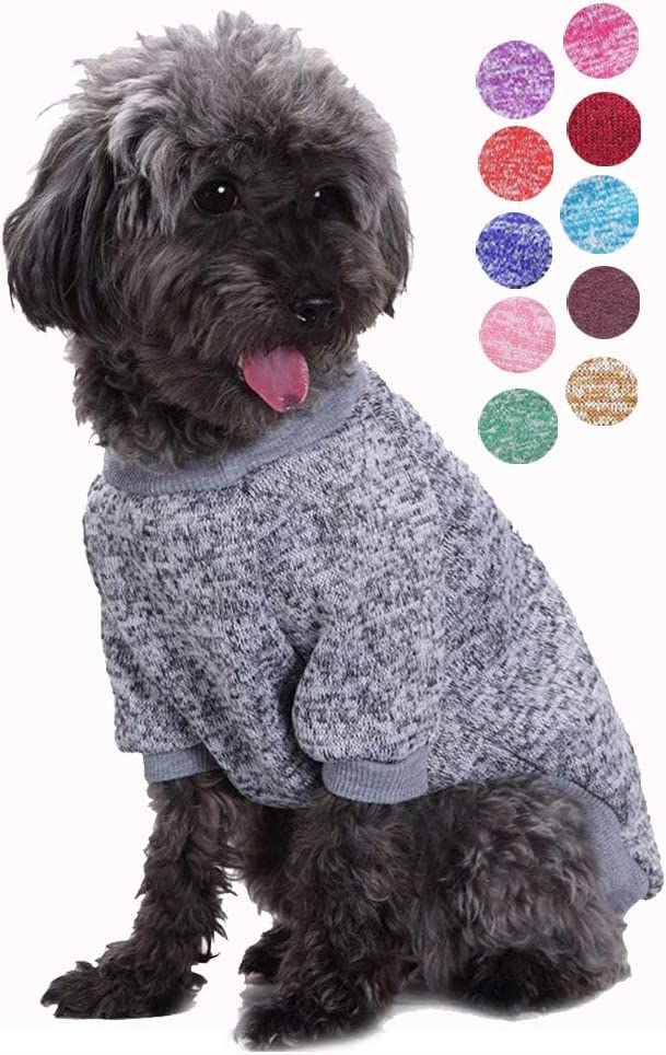 Dog Sweaters for Small Dogs Cat Sweater Dog Sweatshirt Winter Coat Apparel for Small Dog Puppy Kitten Cat Bwealth Small Dog Clothes Cute Classic Warm Pet Sweaters for Dogs Girls Boys