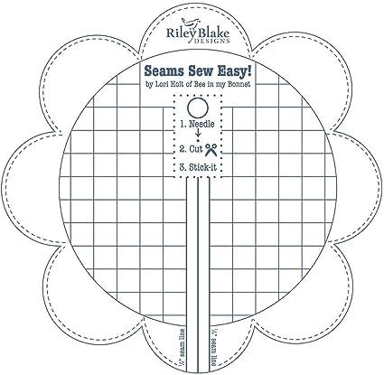 Riley Blake Designs Lori Holt Seams So Easy Seam Guide Denim