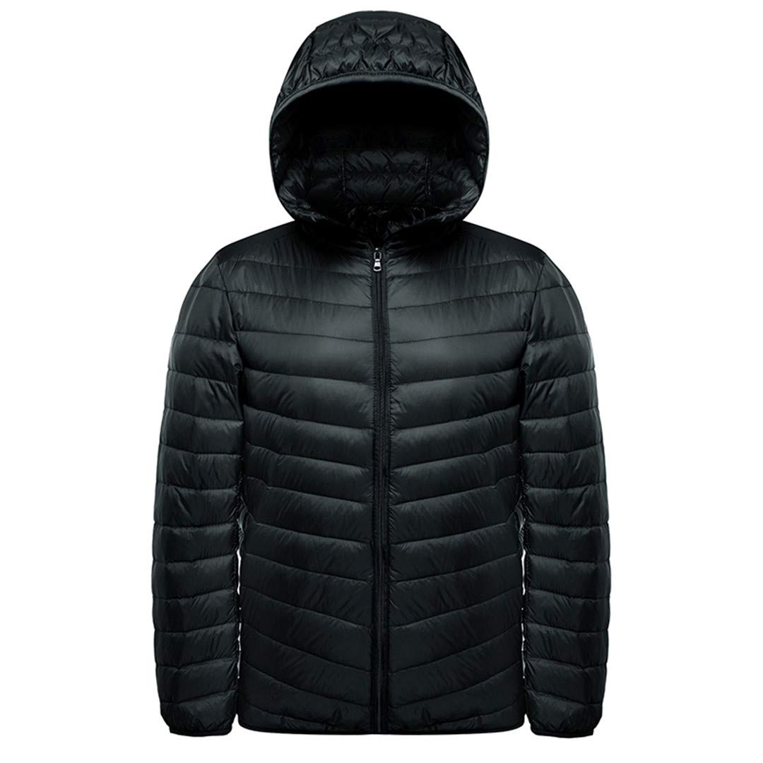 feca2bd21 KUYTFV Ultra Light Down Jacket Men Spring Autumn Hooded Waterproof ...