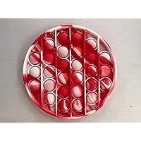 Pop it tie dye Bubble Sensory Fidget Toy - Red