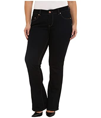 6004adc5373 Jag Jeans Plus Size Womens Plus Size Foster Bootcut Alpha Denim in Double  Trouble - Black -  Amazon.co.uk  Clothing