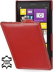 StilGut, UltraSlim, pochette exclusive de cuir véritable pour le Nokia Lumia 1020, rouge
