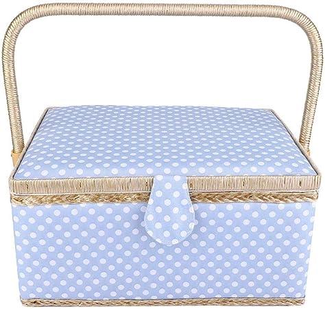 Cesta de almacenamiento de coser Hilo de aguja del hogar Cesta de almacenamiento Accesorios de costura grandes Caja de almacenamiento Organizador de herramientas de costura(Azul): Amazon.es: Amazon.es