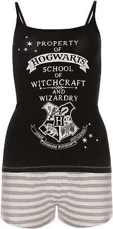 Harry Potter Cami Shorts Ladies Nightwear Hogwarts Women Loungwear Brand New