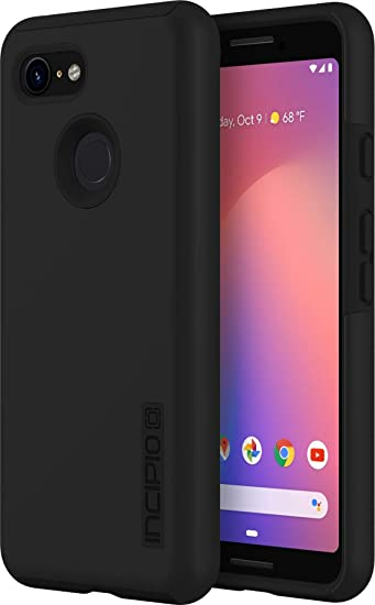 the latest 432a4 c251f Incipio DualPro Pixel 3 Case with Shock-Absorbing Inner Core & Protective  Outer Shell for Pixel 3 - Black