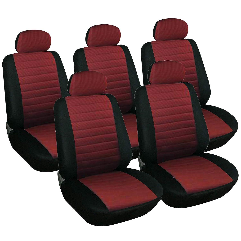 5er Set WOLTU 7233-5 Sitzbez/üge Auto Einzelsitzbezug universal Gr/ö/ße schwarz//rot