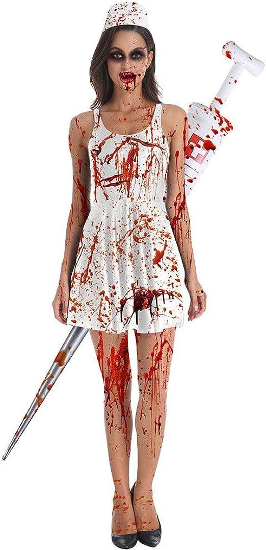 Vestido de Mujer para Disfraz de Zombi, Halloween, Cosplay, piebo ...