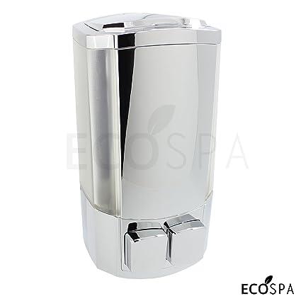 Doble pared cromo baño bomba de dispensador de jabón líquido para jabón, Gel o champú