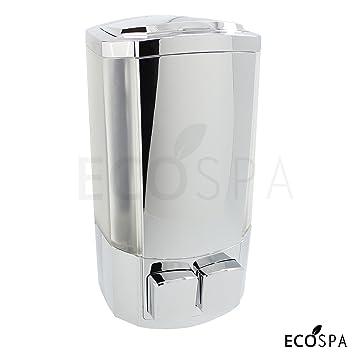 Doble pared cromo baño bomba de dispensador de jabón líquido para jabón, Gel o champú por EcoSpa: Amazon.es: Bricolaje y herramientas