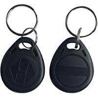 YARONGTECH-125khz rewritable T5577 rfid keyfobs/tag for hotel key-10pcs (Black)