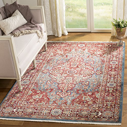 Kashan Rug - Safavieh Kashan Collection KSN305A Traditional Blue and Red Area Rug (5'1