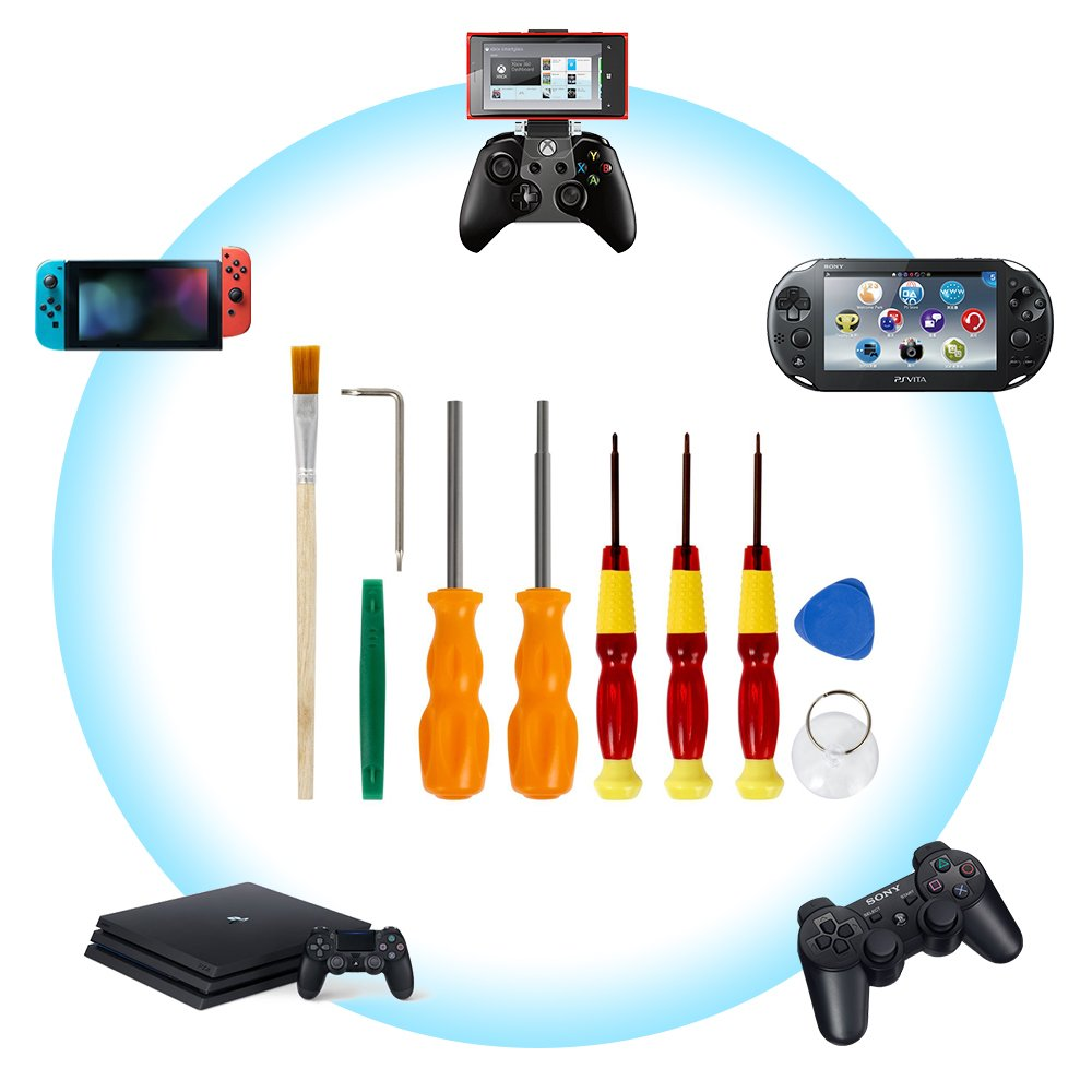 Destornillador de trinquete para Nintendo - Kit de herramienta de ...