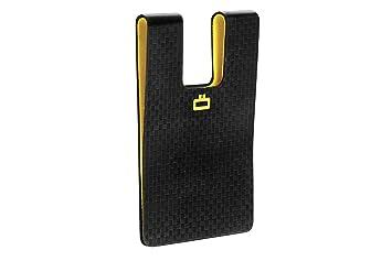 Ögon 3C Carbon Card Clip Cartera Ultra Compacta Fibra de Carbono Negra
