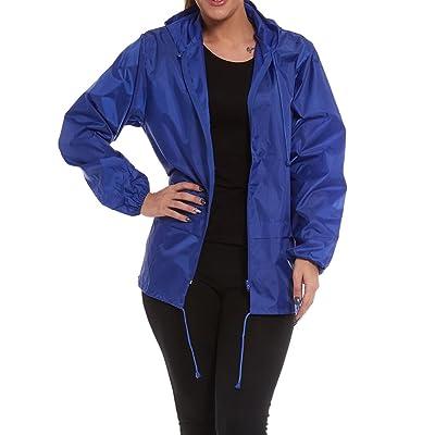 Army And Workwear - Manteau imperméable - Manches Longues - Femme bleu bleu marine L
