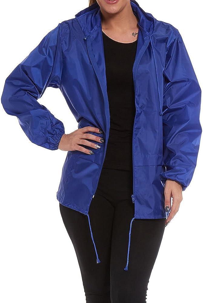 Lightweight Hooded Shower Proof Outdoor Workwear Mac Rain Coat Jacket Cagoule