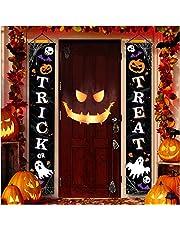 Decoración de Halloween al aire libre – Decoración de puerta delantera para colgar en Halloween, decoraciones al aire libre, señales de bienvenida para el hogar