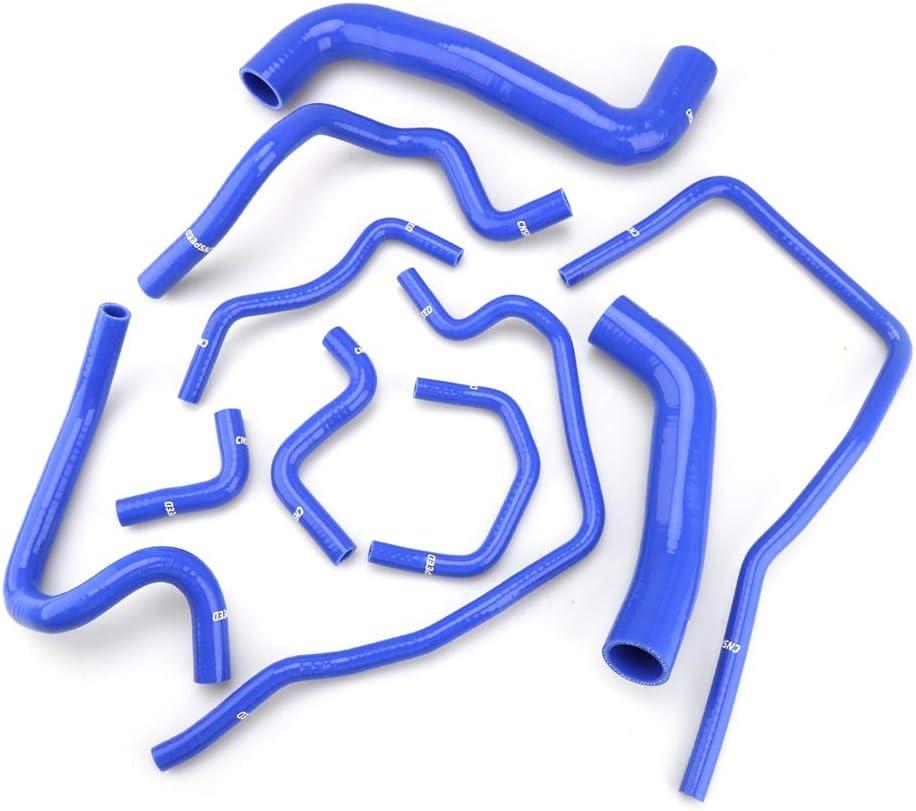 DONXIANFENG Azul 10 piezas de silicona refrigerante del radiador Manguera de silicona manguera Fit Kit Subaru Impreza WRX//STi BGF EJ20