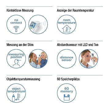 Beurer FT100 - Termometro digital clínico sin contacto con lapiel, color blanco: Amazon.es: Salud y cuidado personal