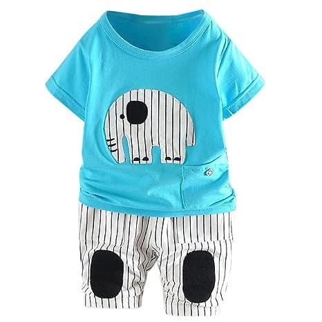Ropa para niños, ❤️Xinantime Recién nacido bebé elefante de dibujos animados camiseta Tops +