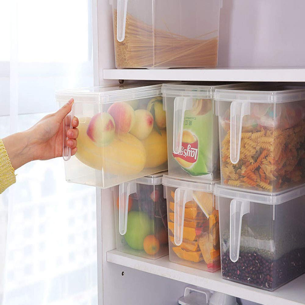 Kariwell Food Storage Containers, Storage Collecting Box Basket Kitchen Refrigerator Fruit Food Organizer(Ship from US)