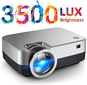 VIVIMAGE C480 Mini Projector, 3500 Lux 1080P Supported and 170'' Display Portable Video Projector with 40,000 Hrs LED Lamp Life, Compatible with TV Stick, PS4, HDMI, VGA, TF, AV and USB