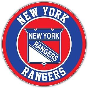 hotprint Rangers Hockey - New York Logo Sport Car Bumper Sticker Decal 5'' X 5''