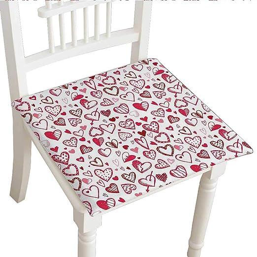 Cojín para silla de comedor (14 x 14 x 2 piezas), cojín ...